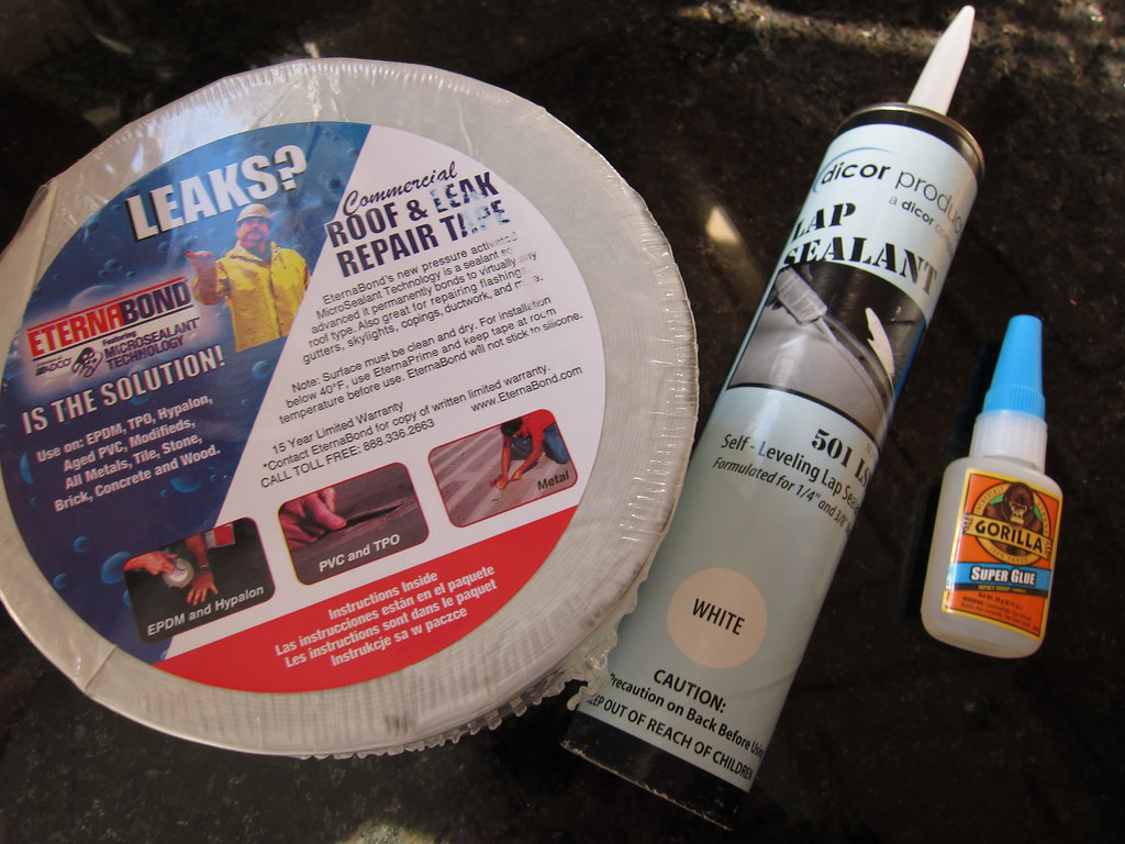 Pop Up Camper Roof Repair Materials Eternabond Seam Seal