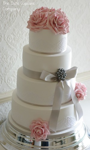 Pink And Dove Grey Wedding Cake Loved Making This Cake