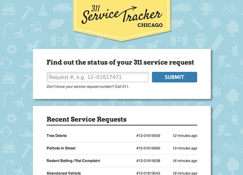 311 Service Tracker Chicago | by danxoneil