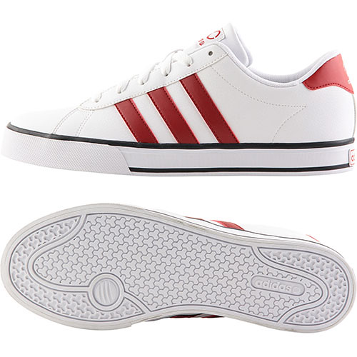 adidas neo label white red stripe size 40 41 850k. Black Bedroom Furniture Sets. Home Design Ideas