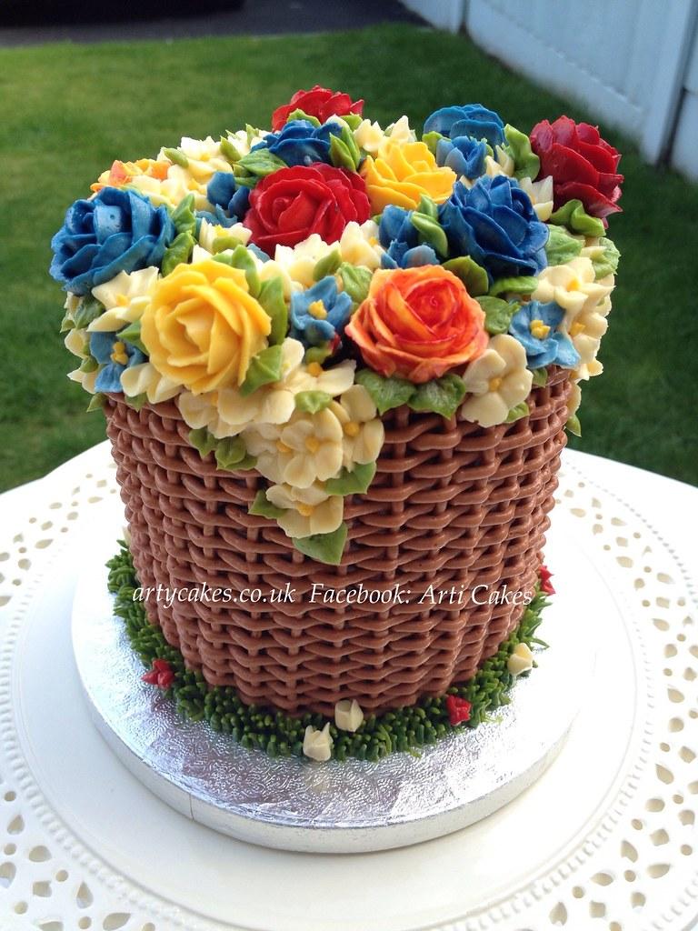 How To Basket Weave Buttercream : Birthday basket cake chocolate buttercream cakes