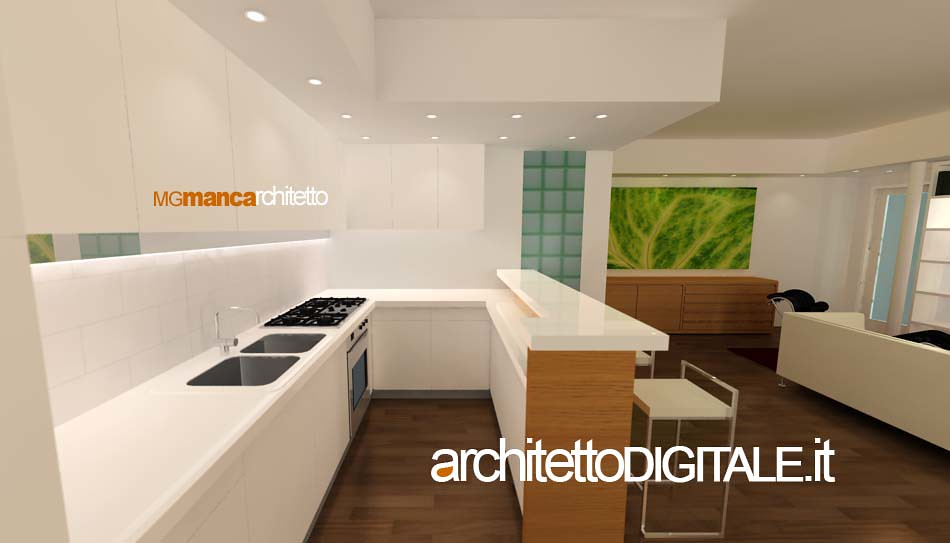 Awesome Progetto Cucina 3d Contemporary - Ideas & Design 2017 ...
