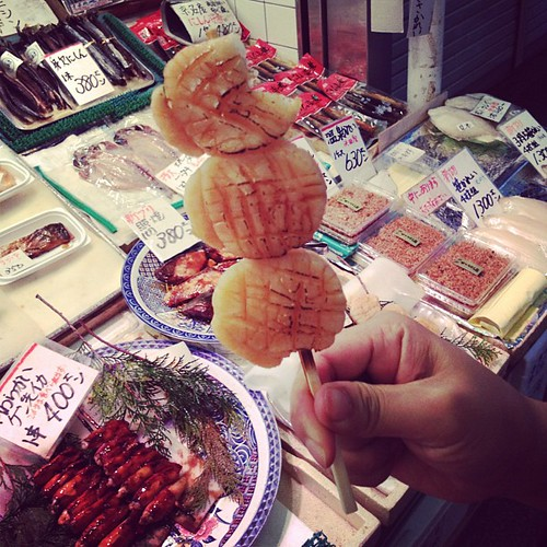 Grilled scallop on a stick. | by londoneater