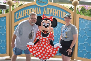 Tracey and Scott with Minnie Mouse | by Disney, Indiana