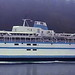 Queen of Saanich - Swartz Bay bound off of Galiano Island in Active Pass - 15 January 1985 [photo © WCK-JST - 85-06-06 - Nikon-VueScan]