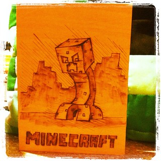 Minecraft Woodburning | by CoraQuilts~Carla