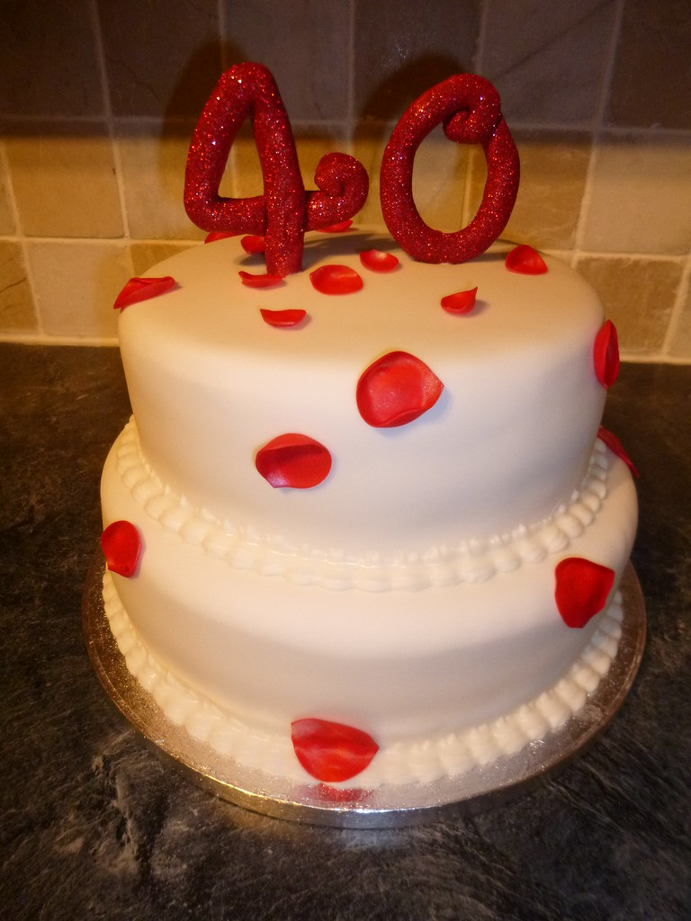 Rose Petal Birthday Cake