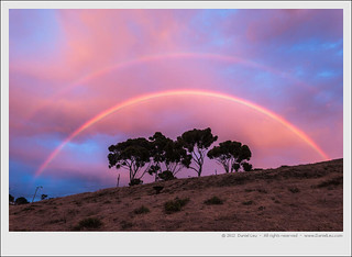 Double Rainbow at Sunset | by Daniel Leu