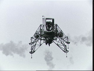 Lunar Landing Training vehicle piloted by Neil Armstrong during training | by NASA on The Commons