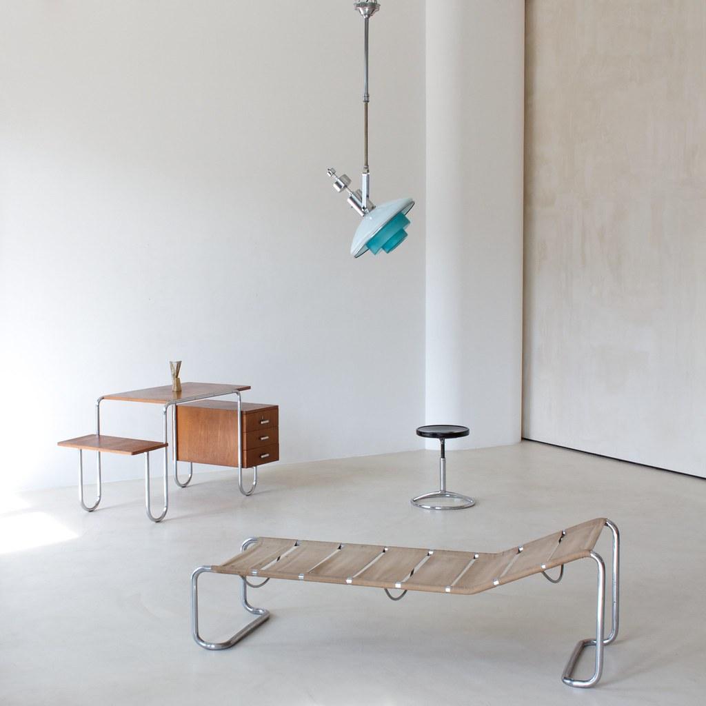 1930s Modernist interior design | Adjustable ceiling lamp by… | Flickr