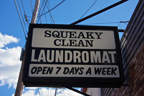 Squeaky Clean Laundromat Sign | by sarahOphoto
