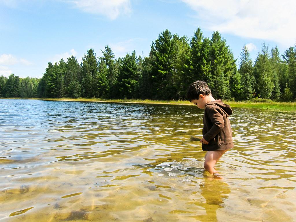 Consider, Peeing into lake