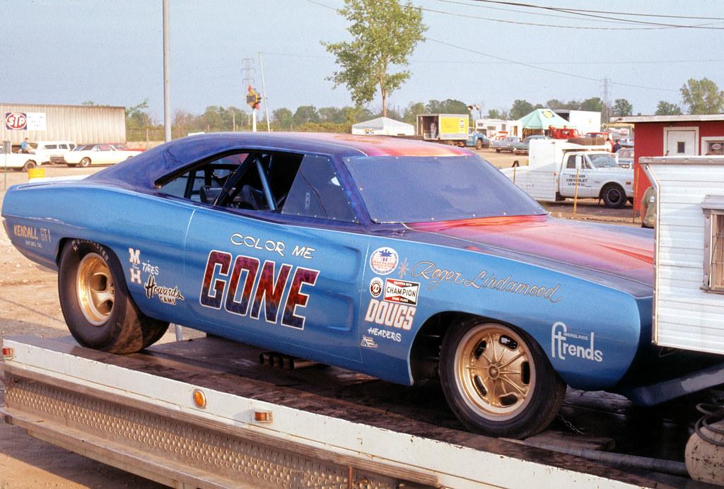 196903b03 Color Me Gone Funny Car Trailer Detroit Drag
