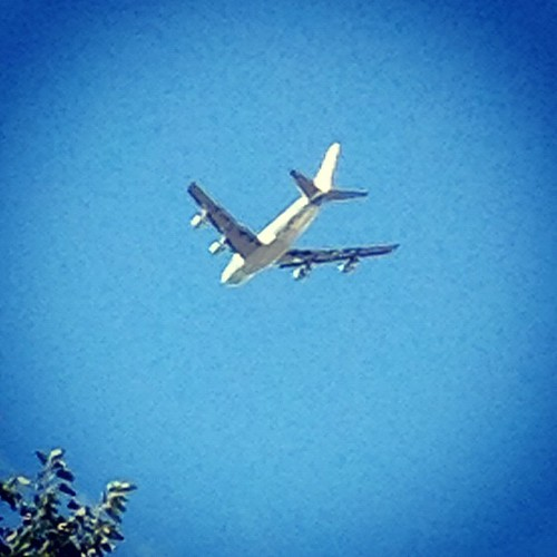9/22/12 Not every day that Air Force One flies directly over the farm, pretty low too! | by rayfamilyfarm