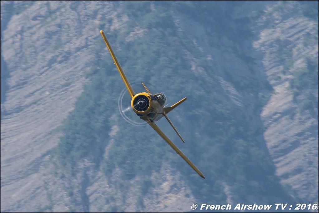 North American T-28C Trojan - F-AZHR ,Aéro Fox, cederic rut , Grenoble Air show 2016 , Aerodrome du versoud , Aeroclub du dauphine, grenoble airshow 2016