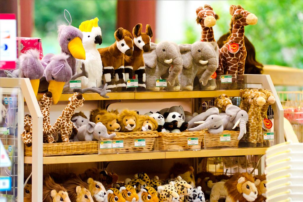 Stuffed Animals In Souvenir Shop Of Ueno Zoo 動物のぬいぐるみ