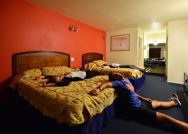 Interior de uno de los moteles de carretra americanos donde hicimos noche en América