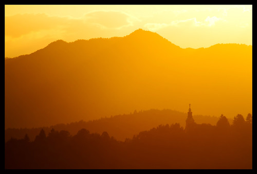 church in the hills in the sunset | by jonstraveladventures