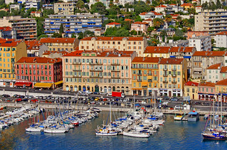 France, Nice,  city port view from the castle's hill | by bilwander