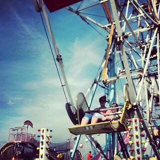 Sara and K on the ferris wheel at the 4H Fair | by Hepcat75