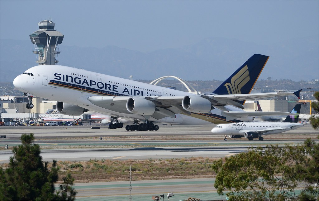 Singapore Airlines A380 LAX Departure 1 | Singapore Airlines ...