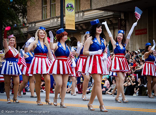 Captain America Dancing Girls Group on Parade | by The Rocketeer