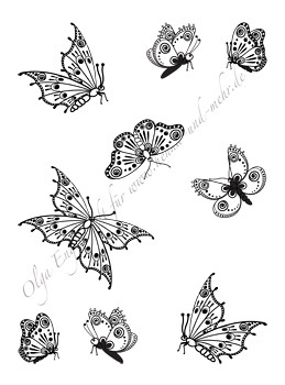 Mehndi Henna Design Butterflies 2 In This Single Pdf