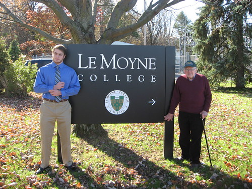 Sean McCarthy '15 and his grandfather Edward McCarthy '53 | by Le Moyne College Alumni