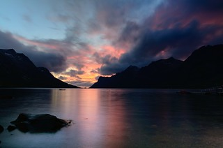 sunset in Ersfjordbotn | by John A.Hemmingsen