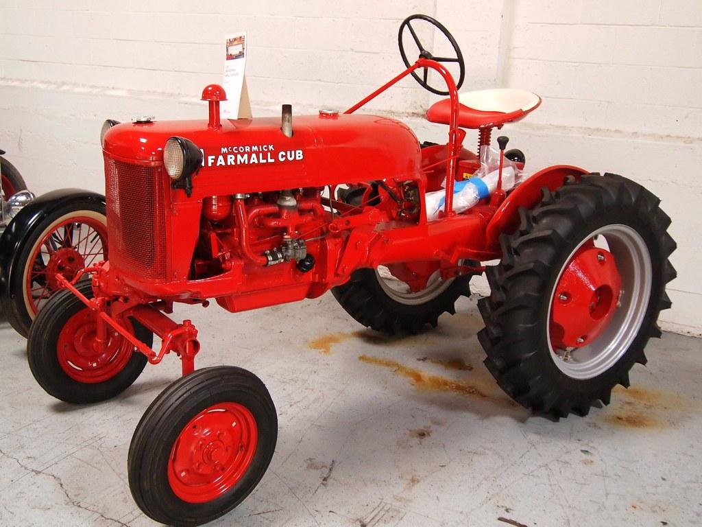 1948 Farmall Cub : Mccormick farmall cub tractor photographed at the