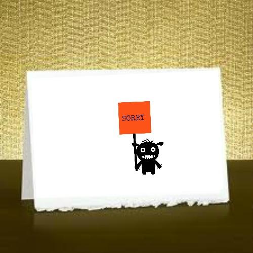 Free Printable Sorry Card A set of free downloadable – Free Printable Sorry Cards
