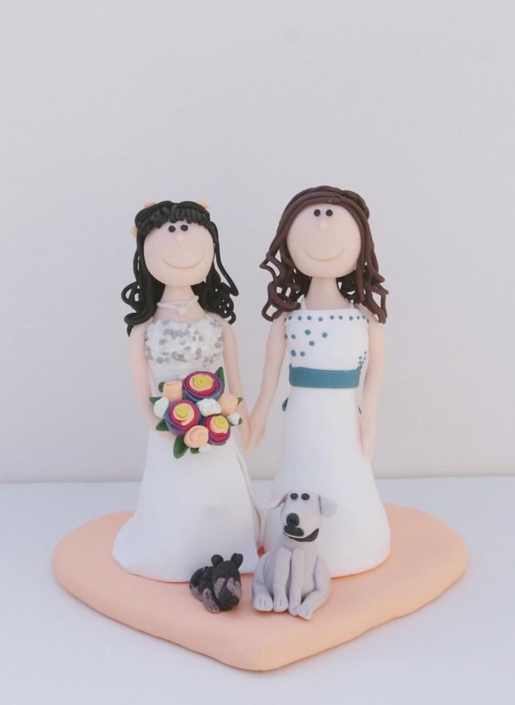 Hochzeitstortenfigur Zwei Frauen Sony Dsc Susses Atelier Flickr