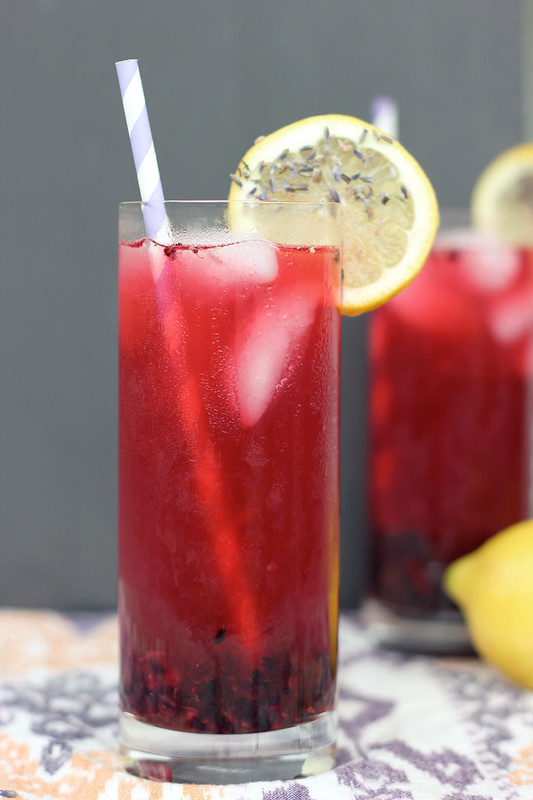 Blackberry Lavender Lemonade - Gluten-free, Vegan + Refined Sugar-free