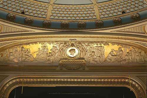 The decorative gilt frieze above the proscenium arch in the auditorium. ©Rob Moore/ROH 1998 | by Royal Opera House Covent Garden