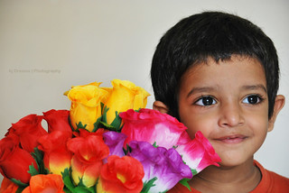 Shaurya with flowers | by AjDreams