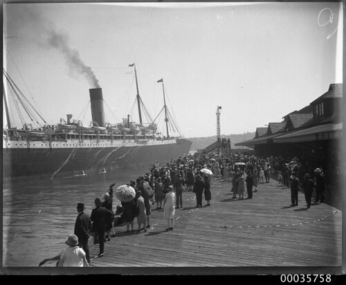 SS CERAMIC departing the White Star Line wharf at Millers Point, 1920-1939 | by Australian National Maritime Museum on The Commons