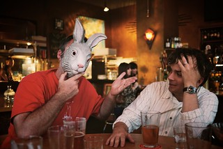 a rabbit walks into a bar (burritojustice & mat) | by heather