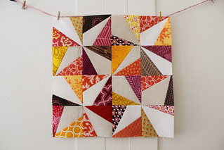 Wonky Pinwheel Block for September | by greenleaf goods