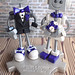 Commission: Robot Wedding Cake Topper - Classics in shades of purple
