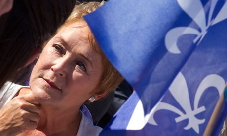 Parti Quebecois leader Pauline Marois at a campaign stop in Chateauguay, Quebec on September 1 2012. She is to set up a minority government in Quebec. | by Pan-African News Wire File Photos