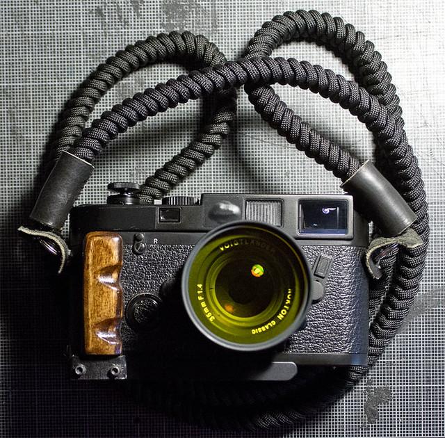 paracord snake braid camera strap flickr photo sharing