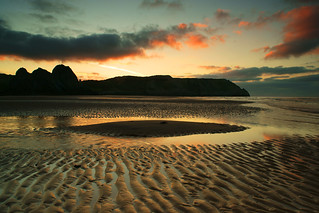 3 cliffs sunrise[explore] | by neath stan the man