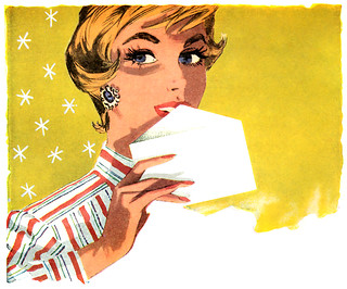 Detail from a 1957 Stork Margarine ad | by totallymystified