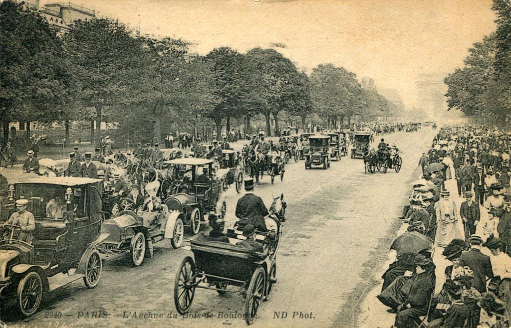 Paris  Avenue du Bois de Boulogne (Old Postcard)  An old p  ~ Jardinerie Delbard Bois Paris