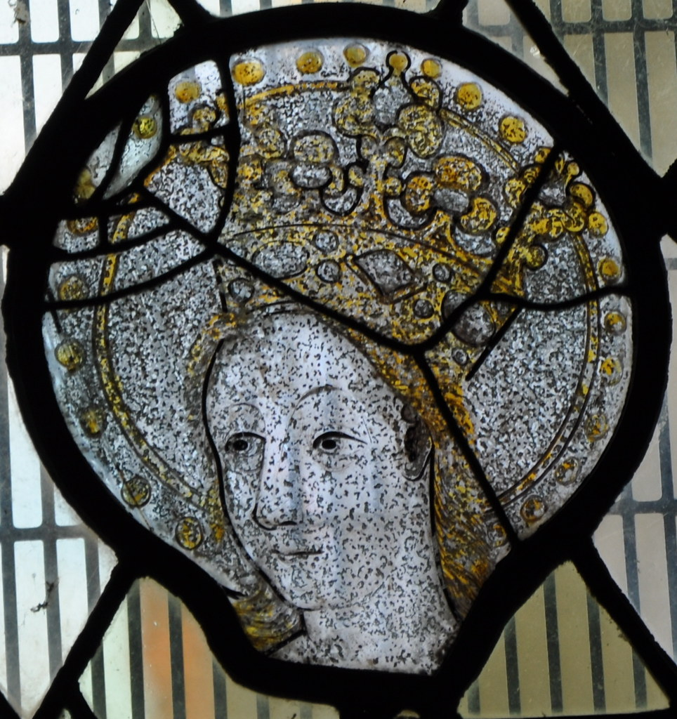 Cropredy-061 St Mary Beautiful 15th century head of the Vi ...