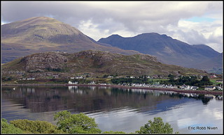 Shieldaig from the Applecross Road. | by eric robb niven