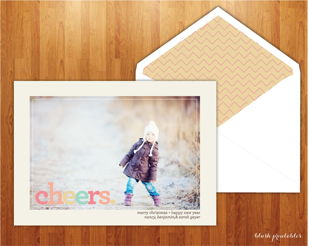 Cheers Holiday Photo Card Diy Printable Cheap Family Chris Flickr