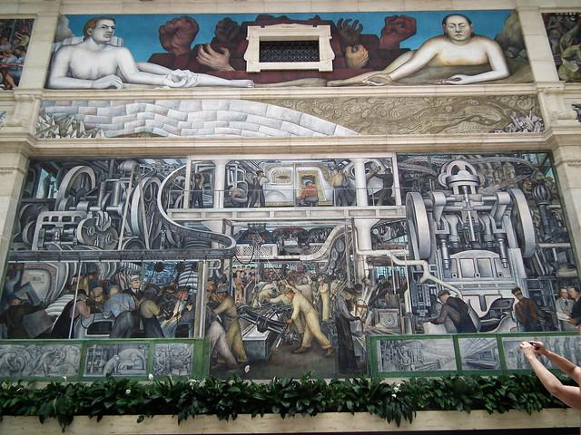 Diego rivera 39 s mural detroit industry at detroit for Detroit rivera mural