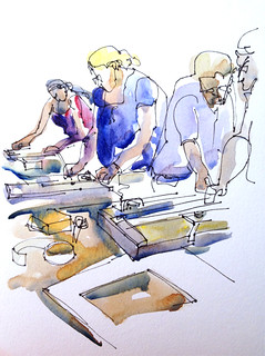 Mat Cutting workshop, University Art, San Jose | by suhita1