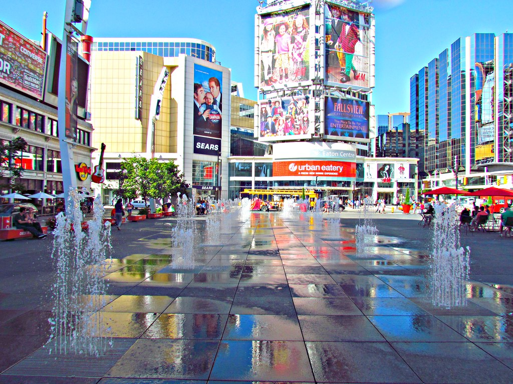 Yonge-Dundas Square, Toronto, ON   The square is fast ...